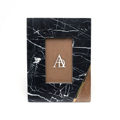 Black Marble, Wood and Copper Photoframe