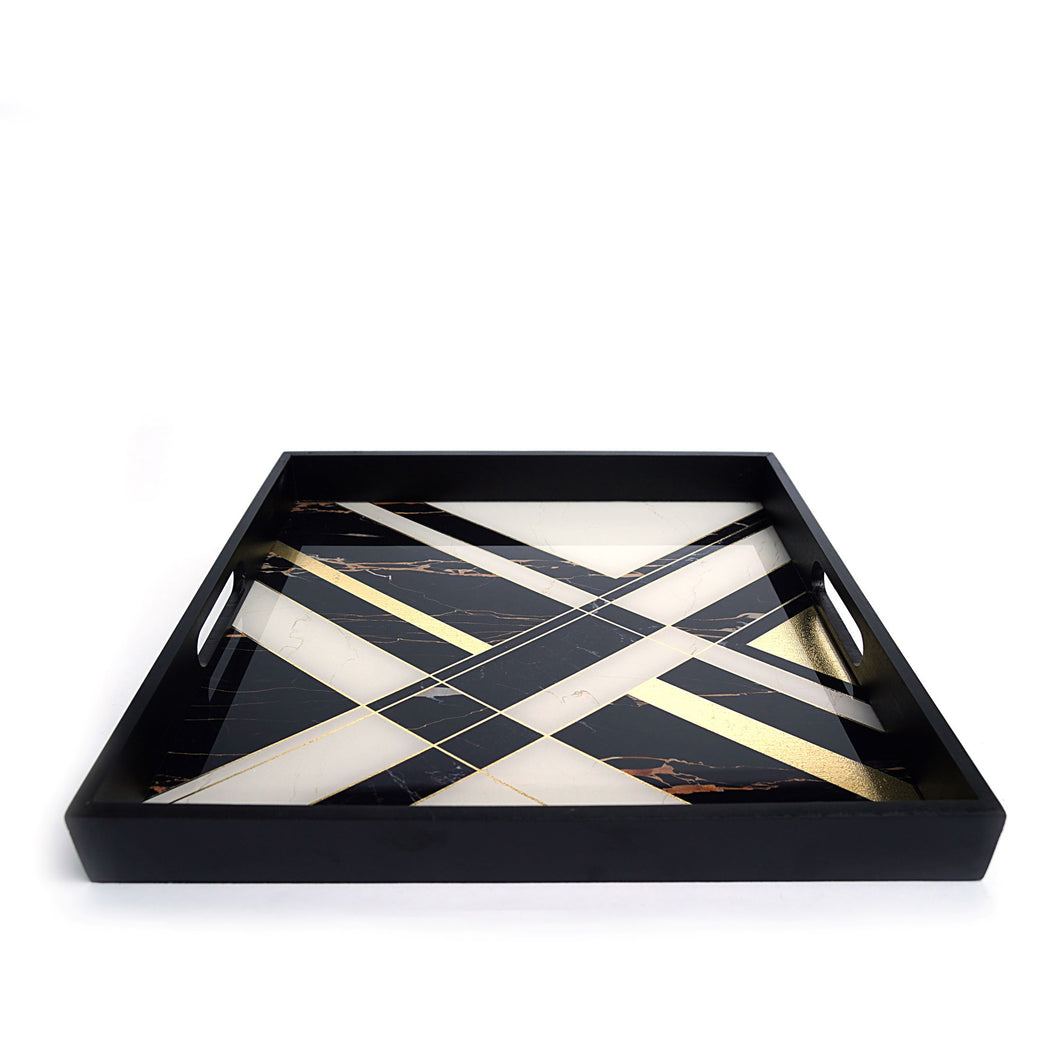 Geometric Square Tray