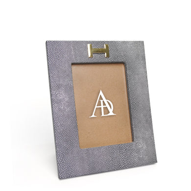 Grey Leather Photoframe