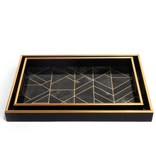 Bordeaux Tray, Black Medium