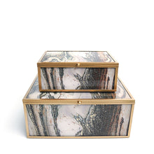 Lamont Jewelry Boxes, Brown, Set of 2
