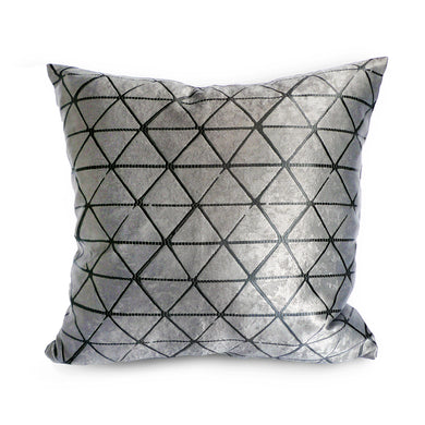 Grey Triangles Cushion Cover