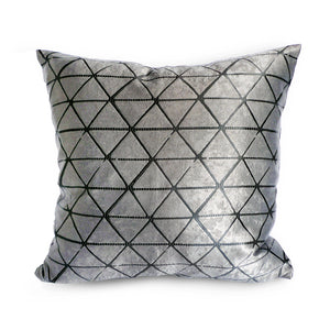 Cushion Cover Light Grey Triangles