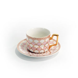 Chatou Tea Cup and Saucer Set, Pink