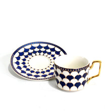 Chatou Tea Cup and Saucer Set, Blue
