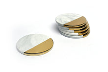 Yves Coasters, White, Set of 6