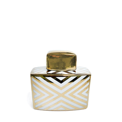 Gold Striped Jar Small