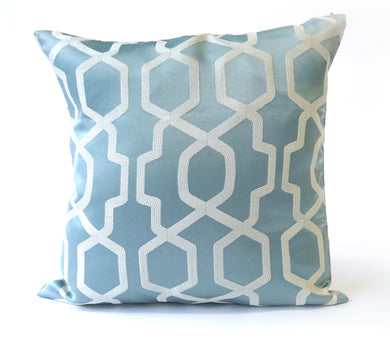 Blue Geometric Cushion Cover