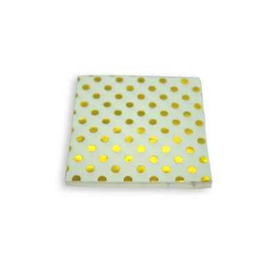 Paper Napkins Gold Polka Dots. Pack of 3