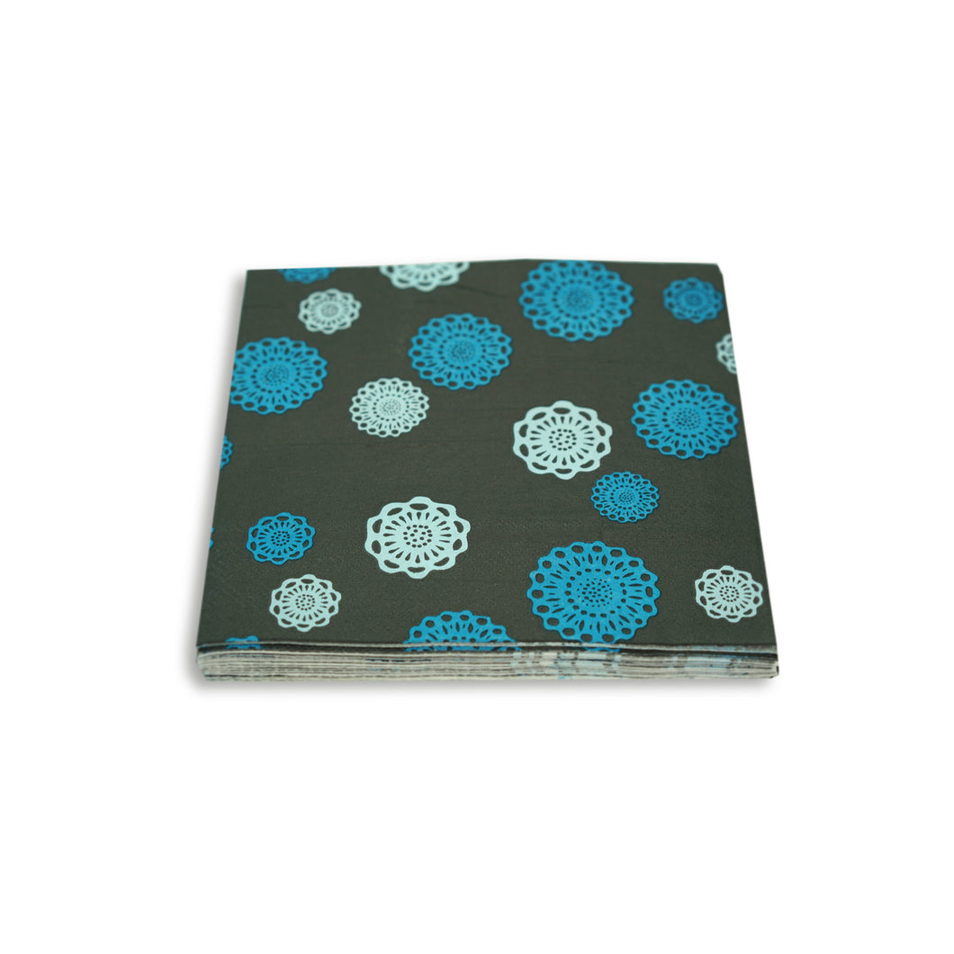 SALE! Paper Napkins Blue Doily Design Pack of 3