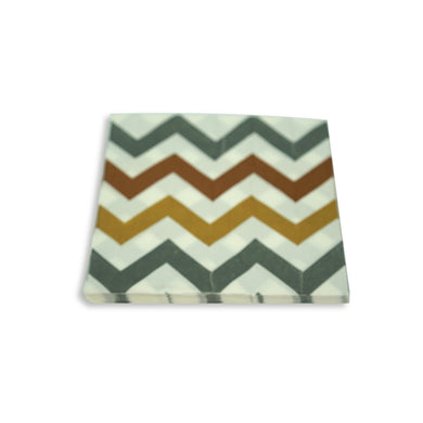 Paper Napkins Brown Chevron Design. Pack of 3