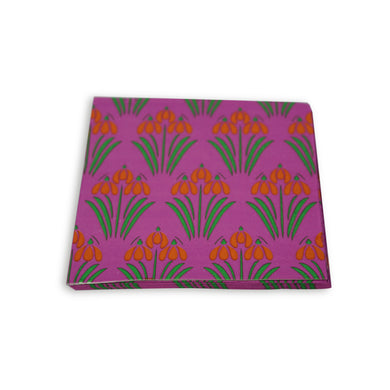 Paper Napkins Purple Floral Design. Pack of 3