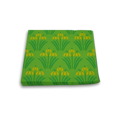 Paper Napkins Green Yellow Floral. Pack of 3