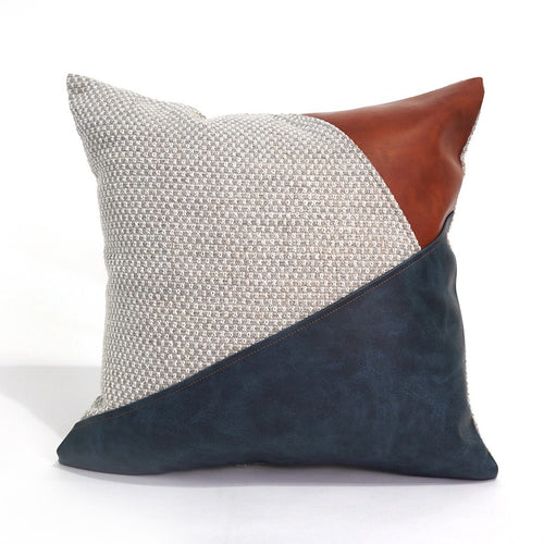 Denver Cushion Cover, Blue, Beige and Brown