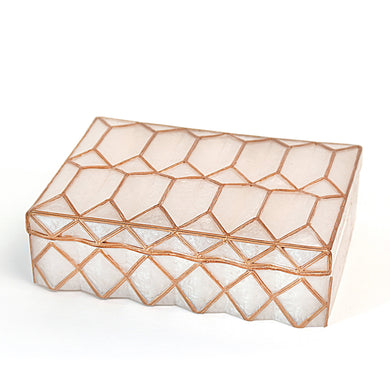 Geometric White Jewelry Box
