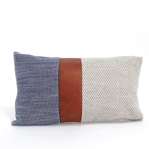 Glendale Cushion Cover, Blue, Beige and Brown