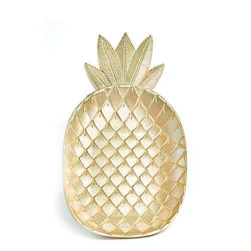Pineapple Plate, Gold