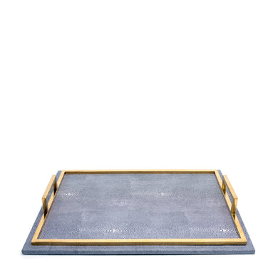 Grey Leather Tray