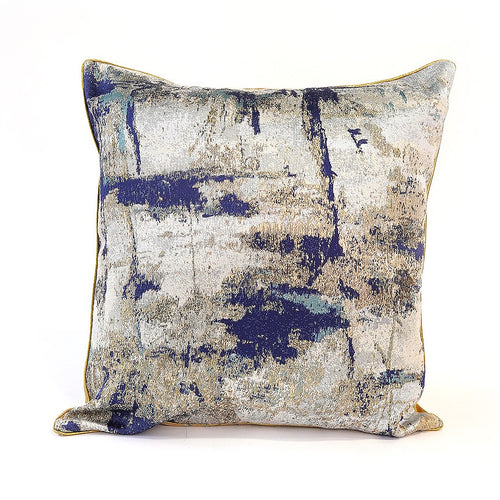 Marseille Cushion Cover, Blue and Champagne Gold