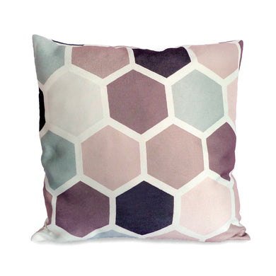 Lilac Honeycomb Cushion Cover