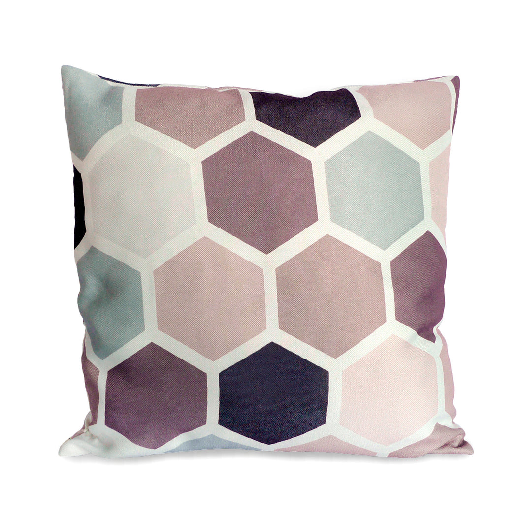 Cushion Cover Lilac Honeycomb