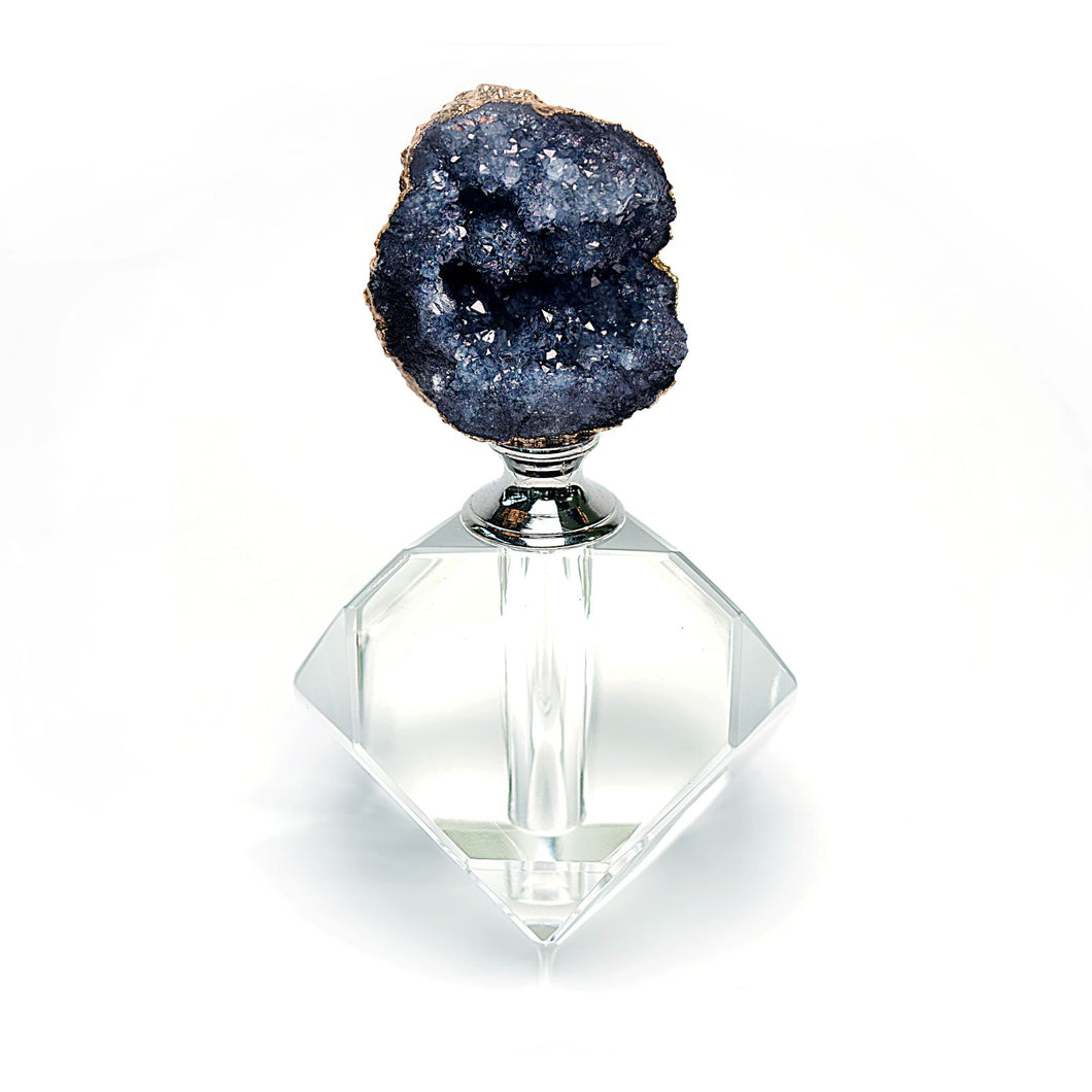 Perfume Bottle. Black Agate Design