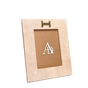 Dusty Pink Leather Photoframe