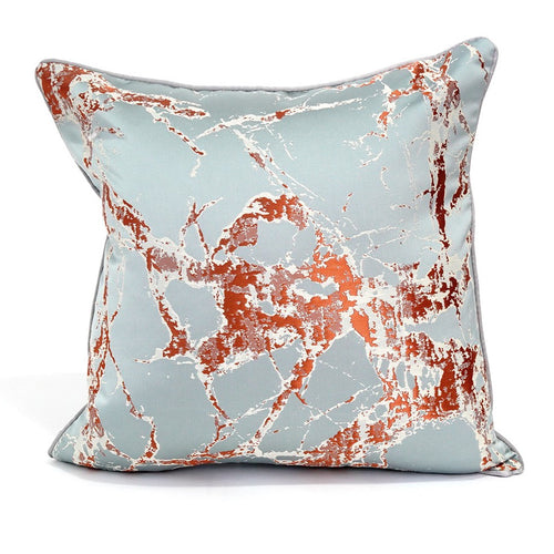 Toulon Cushion Cover, Mint Blue and Brown