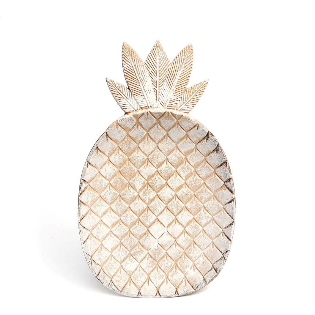 Wood Pineapple Plate