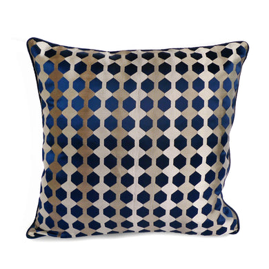Blue Honeycomb Cushion Cover