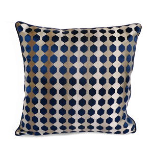 Cushion Cover Blue Honeycomb