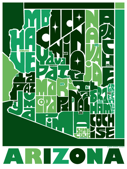 Arizona State Type Map