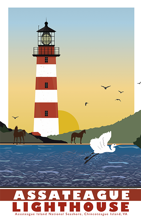 Assateague Lighthouse Illustration