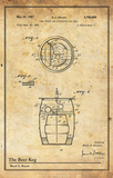 Beer Keg-Patent Invention Art