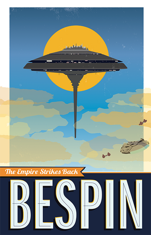 Bespin: Star Wars Travel Poster