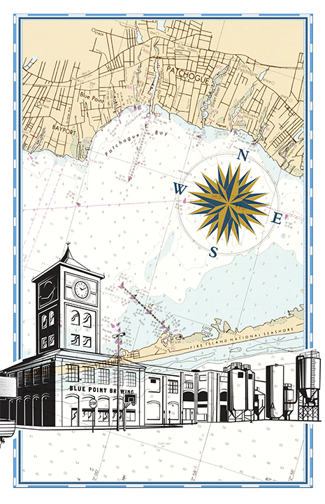 Blue Point Brewery Nautical Chart
