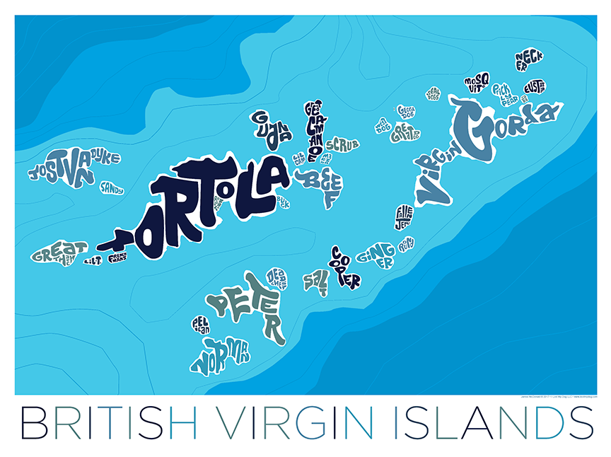 British Virgin Island Type Map