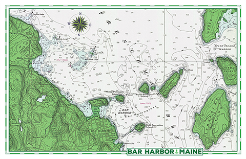 Bar Harbor Nautical Chart
