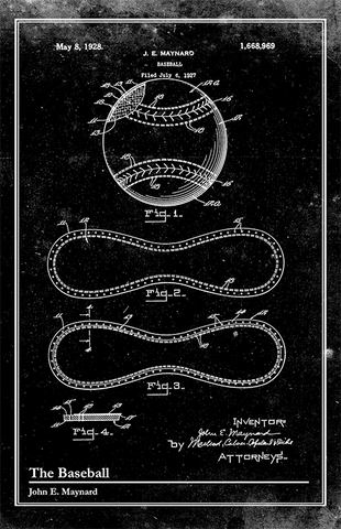 Baseball Glove-Patent Invention Art