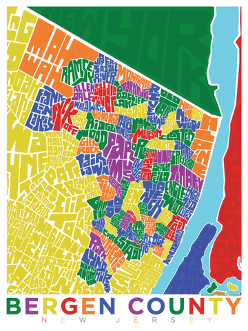 Bergen County Neighborhood Type Map