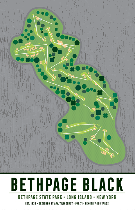 Bethpage Black Golf Course Map