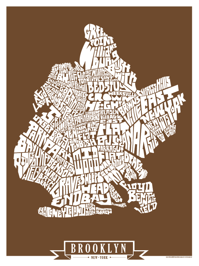 Brooklyn Solid Colors Type Map