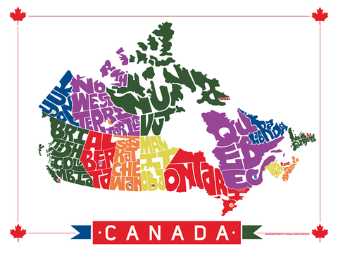 canada province type map