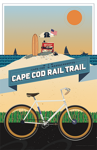 Cape Cod Rail Trail Illustration