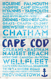 Cape Cod Favorite Places Wooden Plank Replica Sign