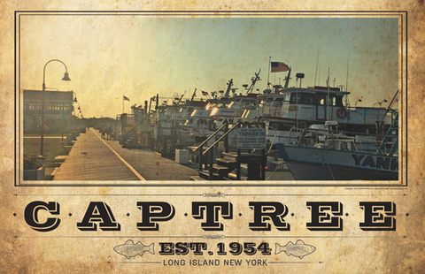 Captree Docks Vintage Travel Poster