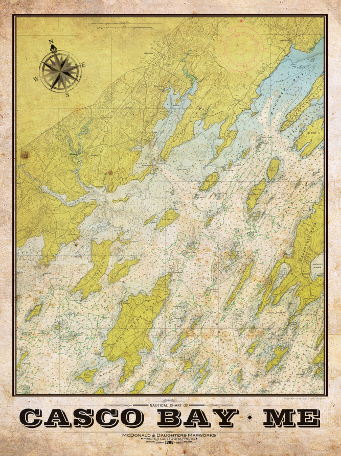 Casco Bay Nautical Chart