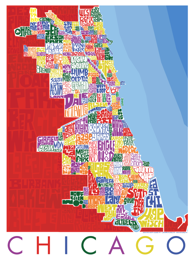 Chicago Neighborhood Type Map I Lost My Dog