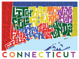 Connecticut Type Map Poster