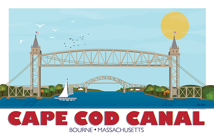 Cape Cod Canal Illustration